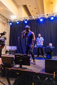 """Creative Mind Frame / 1up live at MAGFest 2020 (MAGFest 18) on January 4, 2019 at the Gaylord National Convention Center. Short for """"Music And Gaming Festival,"""" MAGFest is a four day-long event dedicated to the appreciation of video game music, gaming of all types, and the gaming community. The event runs 24 hours a day, and offers consoles, arcades, tabletop, LAN, live video game cover bands, chiptunes, vendors, guest speakers, and much more. PHOTO BY: BRADLEY PEARCE"""